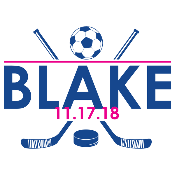 Soccer Hockey Bar Mitzvah Logo Design
