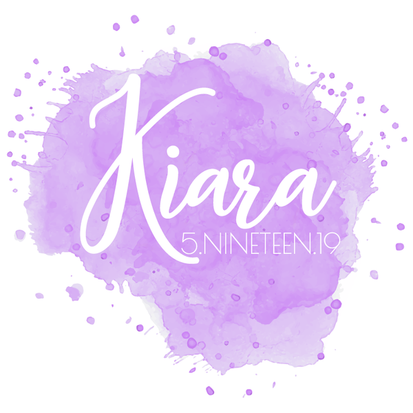 Watercolor Bat Mitzvah Logo Design