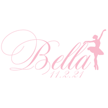 Load image into Gallery viewer, Ballet All Day Bat Mitzvah Logo
