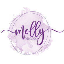 Load image into Gallery viewer, watercolor bat mitzvah logo
