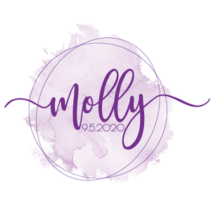 watercolor bat mitzvah logo