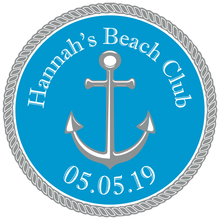 Load image into Gallery viewer, Summer Nautical Beach Mitzvah Logo Design