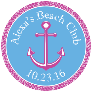 Summer Nautical Beach Mitzvah Logo Design