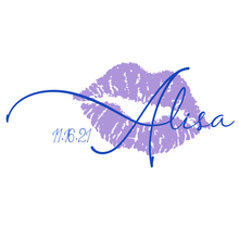 Load image into Gallery viewer, Lip and Kiss Bat Mitzvah Logo Design