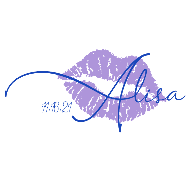 Lip and Kiss Bat Mitzvah Logo Design