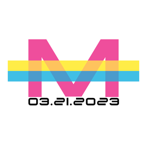 neon modern bat and bar mitzvah logo