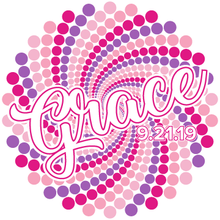 Load image into Gallery viewer, Colorful Dots Bat Mitzvah Logo