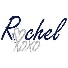 Load image into Gallery viewer, Rachel Bat Mitzvah Logo Design xoxo Silver Glitter
