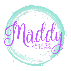 Starry Night Teal Purple Bat Mitzvah Logo Design Ombre