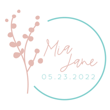 Load image into Gallery viewer, Vintage Floral Bat Mitzvah Logo Design