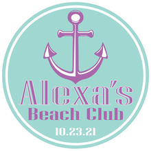 Load image into Gallery viewer, Summer Nautical Mitzvah Logo Design