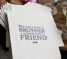 Load image into Gallery viewer, Custom Bar and Bat Mitzvah Cocktail Napkins with Logo Design