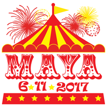Load image into Gallery viewer, Carnival Circus Mitzvah Logo Design
