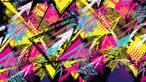 Graffiti Zoom Mitzvah Background