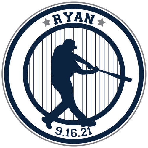 Sports Baseball Bar Mitzvah Logo Design