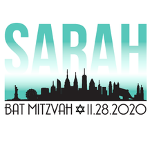 Load image into Gallery viewer, New York Skyline Bar and Bat Mitzvah Logo