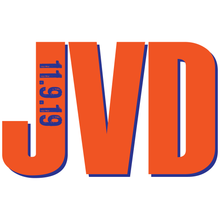 Load image into Gallery viewer, Orange Navy Monogram Bar Mitzvah Logo Design