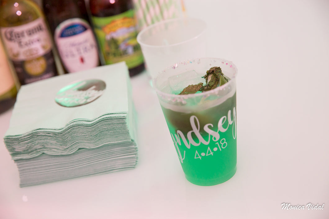 Custom Shatterproof Frosted Cup Mitzvah