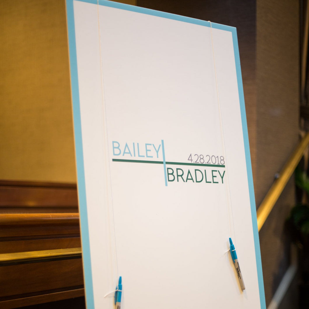 Bar and Bat Mitzvah Sign in Board