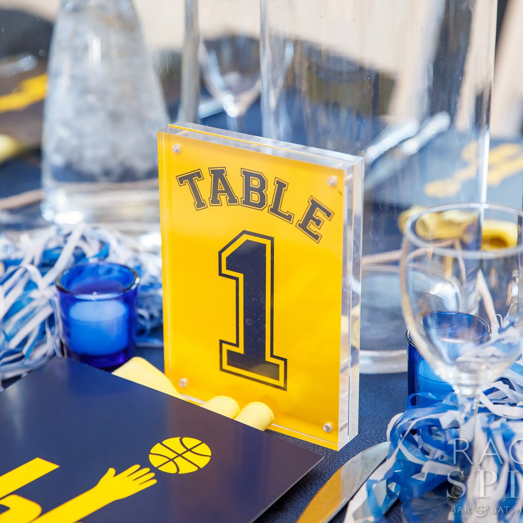 Custom Bar and Bat Mitzvah Table Number