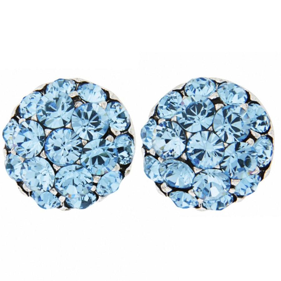Farah Aqua Clip-on Earrings