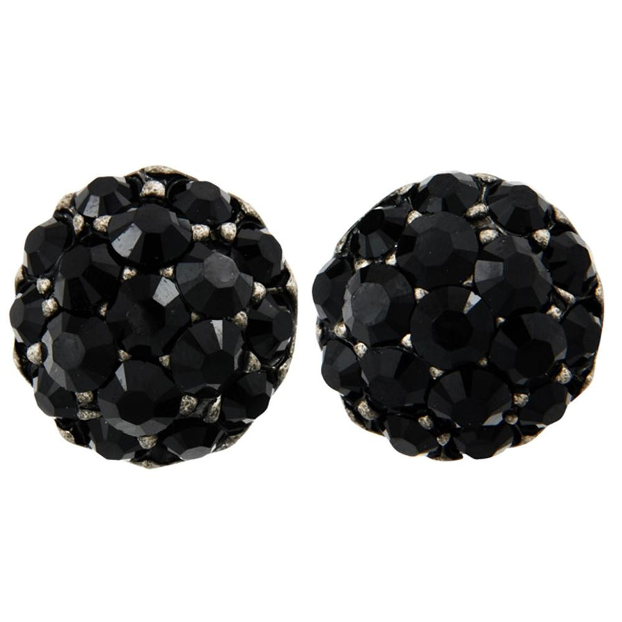 Farah Black Clip-On Earrings