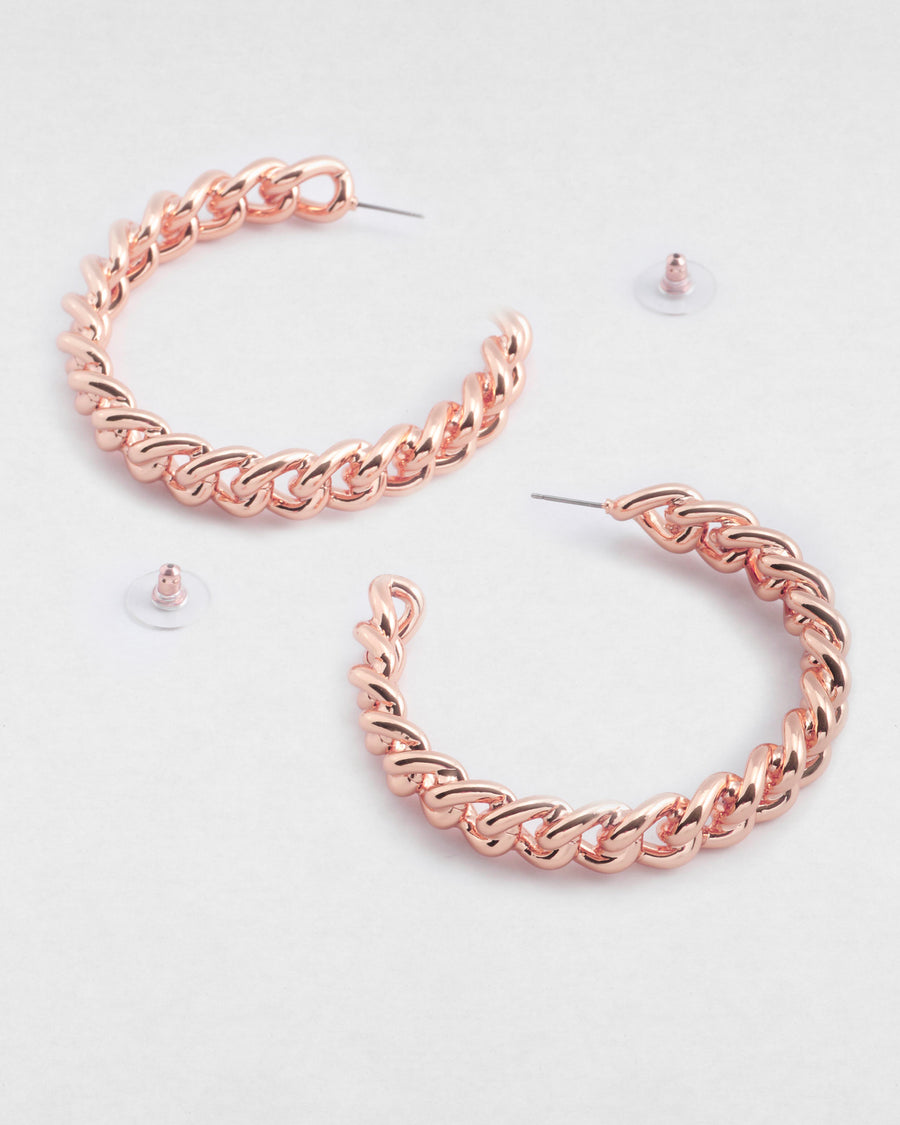 Kylie Chain Hoop Earrings
