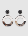 Selma Resin Hoop Earring
