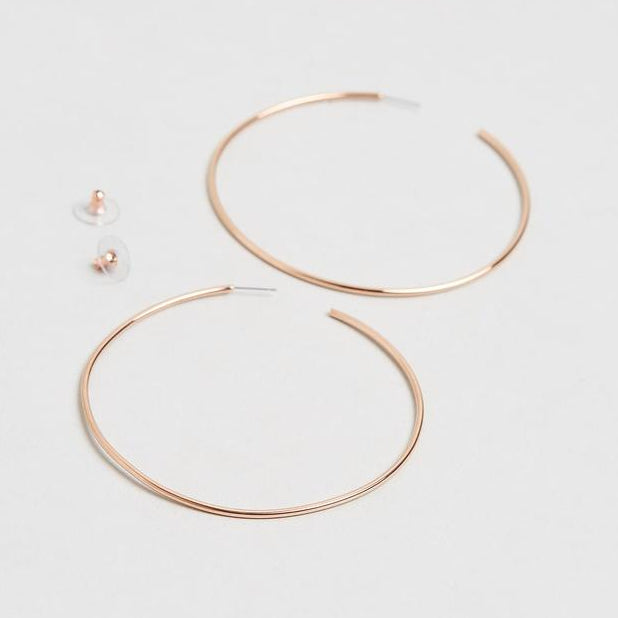 Bari Rose Gold Earrings