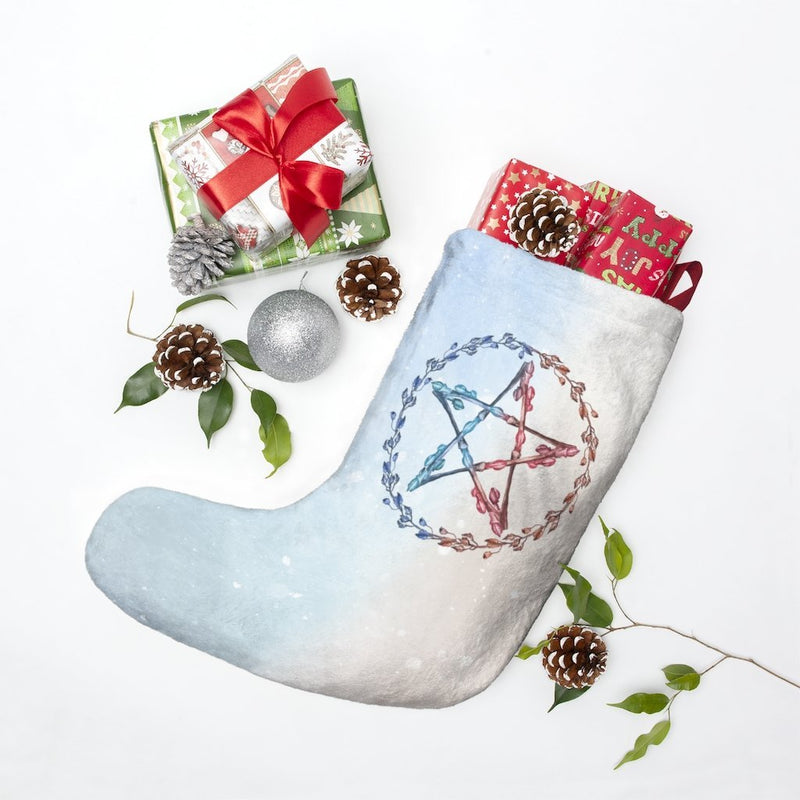Winter Solstice Pentagram Stocking - Seidora