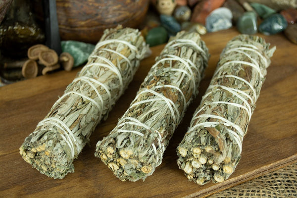 Black Sage (Mugwort) Smudge Stick Wands - Seidora