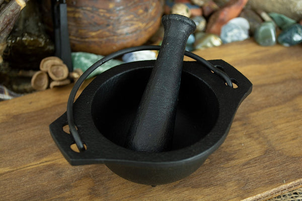 Cast Iron Mortar and Pestle - Seidora
