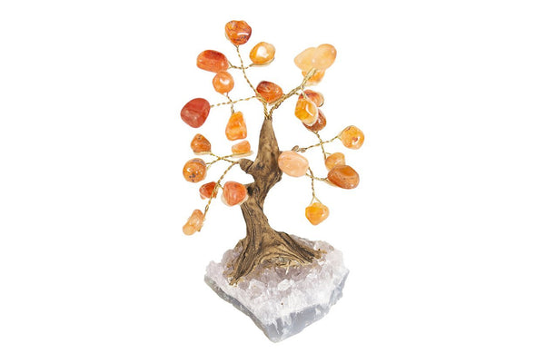 Mini Gemstone Tree: Carnelian - Seidora