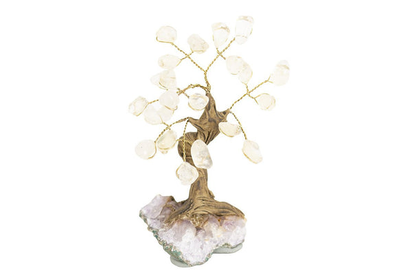 Mini Gemstone Tree: Quartz - Seidora