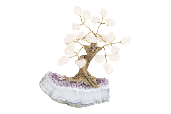 Mini Gemstone Tree: Roze Quartz - Seidora