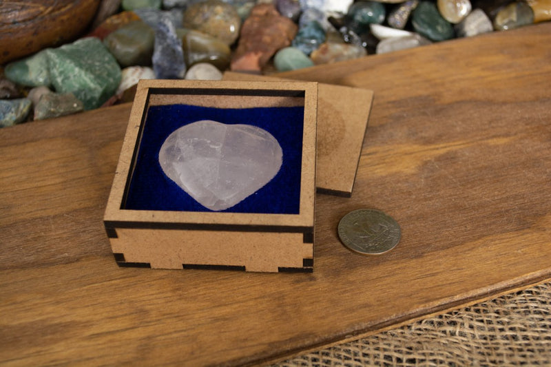 Rose Quartz Heart Box - Seidora