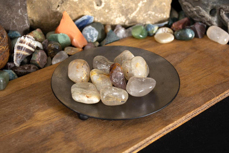 Rutilated Quartz: Tumbled - Seidora