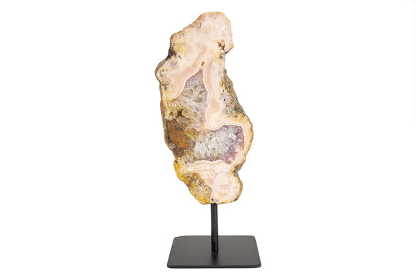 Pink Amethyst Slab on Metal Stand #1 - Seidora
