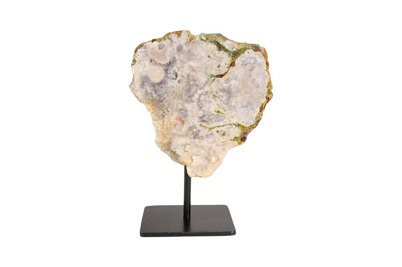 Pink Amethyst Slab on Metal Stand #3 - Seidora