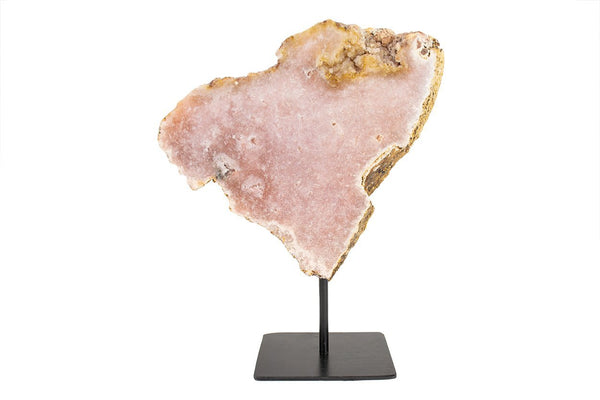 Pink Amethyst Slab on Metal Stand #4 - Seidora