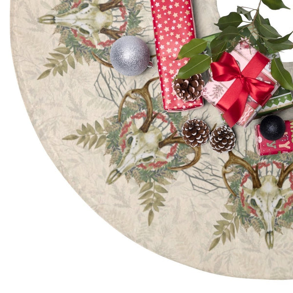 Yule Tree Skirt: Deer Skull - Seidora