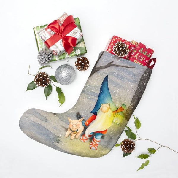Yuletide Tomte Lantern Stocking - Seidora