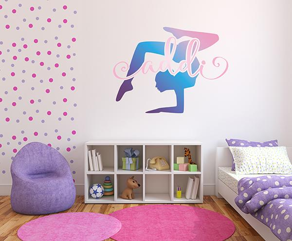 Gymnast Personalized Name | Wall Decal