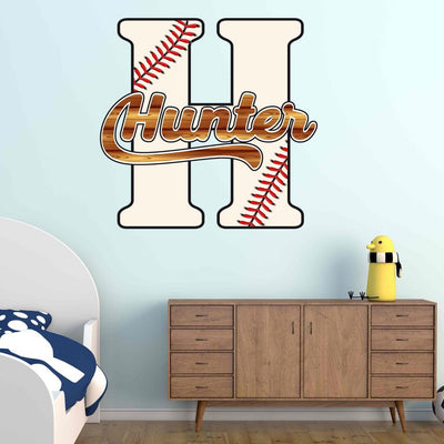 Baseball Monogram Personalized Name | Wall Decal