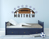 Football Personalized Name | Wall Decal