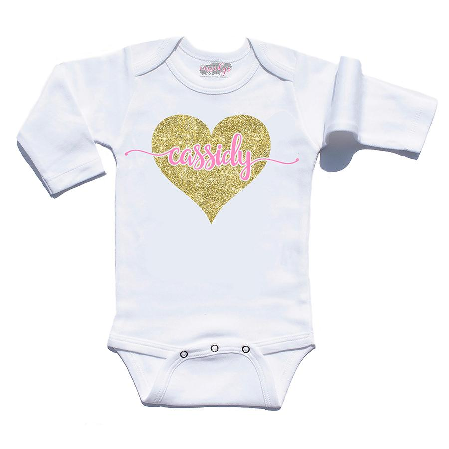 db93edc74f38f Personalized Baby Gown from $27.99 · Personalized Infant Heart Bodysuit