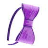Neon Sequin Bow Headband | PURPLE