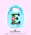 Personalized Floral Infant Bib | Mint