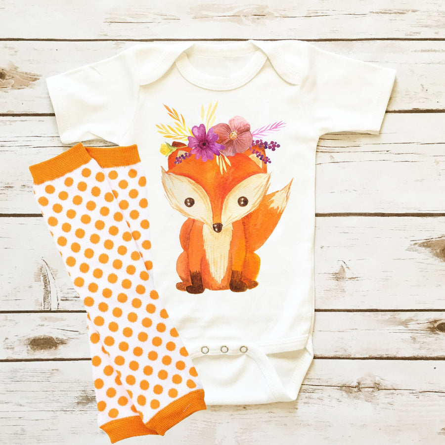 Fox with Wreath| Infant Girl - Cassidy's Closet