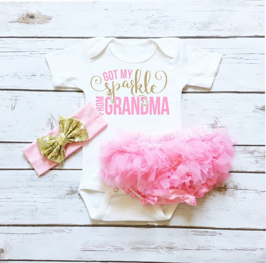 Baby Clothes - Got My Sparkle From GRANDMA Infant Bodysuit